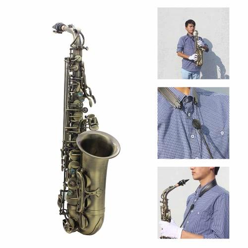 High Grade Antique Finish Bend Eb E-flat Alto Saxophone Sax