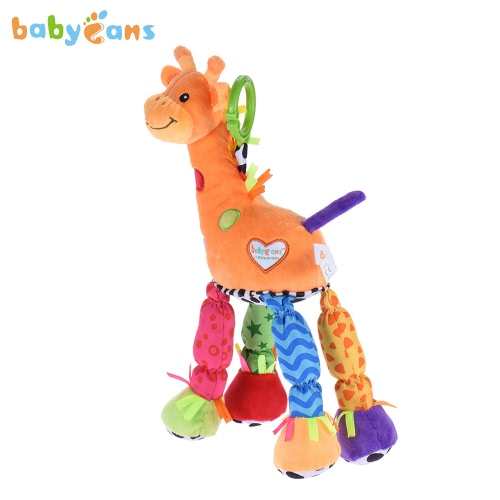 babyfans FK1407 Giraffe-model Musical Stuffed Toy Crib Toys Educational Toy Built-in Tinkle Bell Ringing Paper and BB Buzzer for Infanette Hanging or for Baby Own Playing