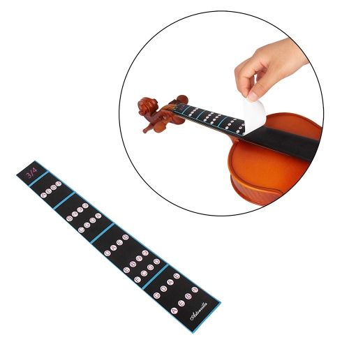 3/4バイオリンフィドル指ガイド指板ステッカーラベルイントネーションチャート初心者のためのフレットボードマーカー