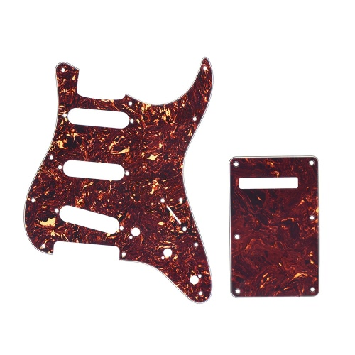 Tortoise Red Guitar Pick Guard Back Plate with 20pcs Screws for Fender Stratocaster Strat Style Electric Guitar