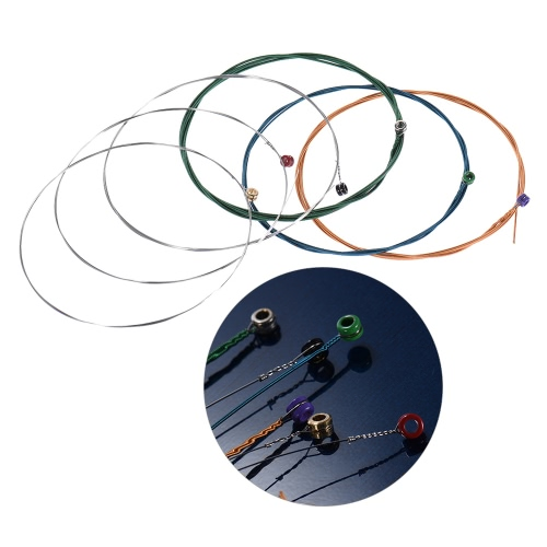 Orphee RX15-C Steel Electric Guitar Strings Colorful 6pcs Full Set Replacement (.009-.042) Carbon Steel Core Nickel Alloy Wire Super Light Tension with End Ball