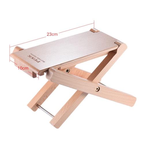 折り畳み式の木製ギターフットレストスツールペダル4レベルの高さ調節可能ブナウッド素材