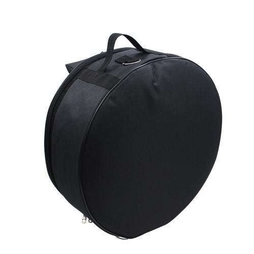 Durable 14 Inch Snare Drum Bag Backpack Case with Shoulder Strap Outside Pockets