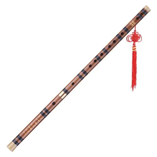 Steckbare Bitter Bambusflöte Dizi Traditionelle handgemachte chinesische Musikholzblasinstrument Tonart D-Studie Stufe Professionelle Leistung