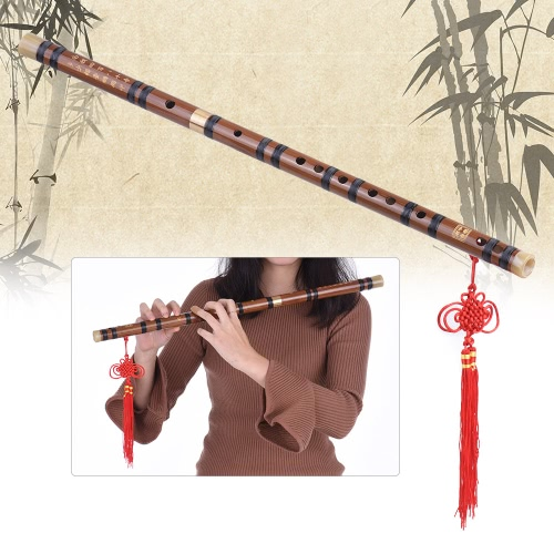 Pluggable Bitter Bamboo Flute Dizi Traditional Handmade Chinese Musical Woodwind Instrument Key of D Study Level Professional Performance, TOMTOP  - buy with discount