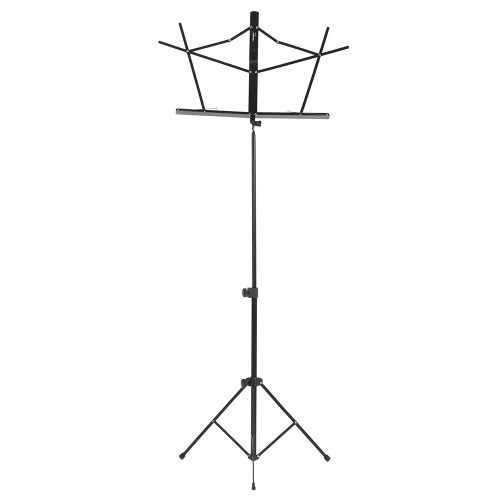 Portable Adjustable Folding Music Stand Shelf Metal Height 57-113cm with Carrying Bag Black
