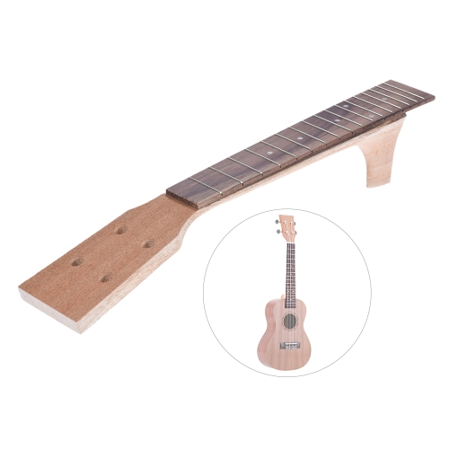 23インチコンサートUkelele Mapleウッドネック&ローズウッドフレットボードフィンガーボードセットハワイアンギターパーツ