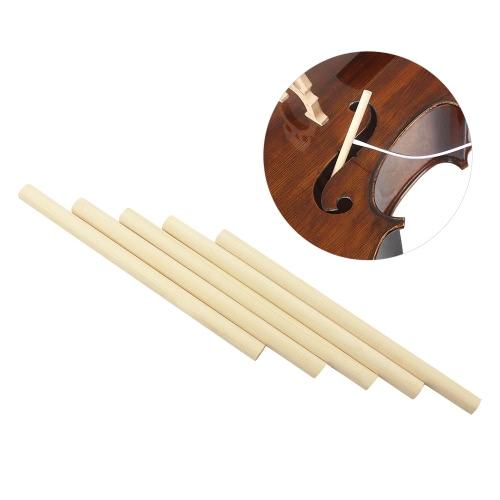 5pcs Acoustic Cello Soundpost suono Colonna Speaker Wood Spruce 180mm per 4/4 3/4 Cellos Cello Accessori