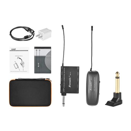 Baomic BM-12BプロフェッショナルUHFワイヤレス楽器マイクロフォンシステム