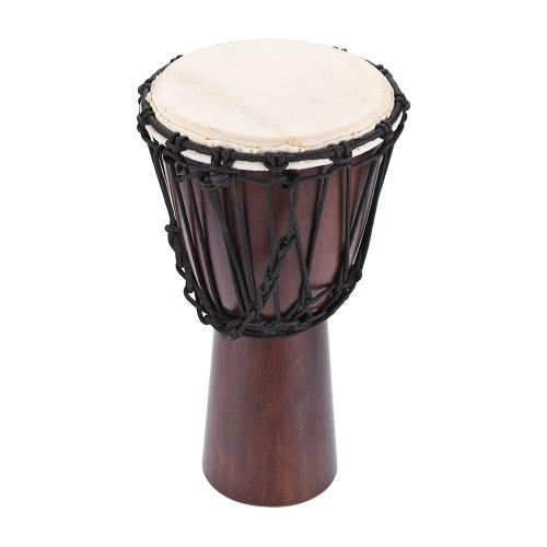 "Professionelle 10 ""afrikanische Djembe Hand Bongo Drum Percussion Musik Instrument wählen Hartholz Körper Ziegenfell Kopf"