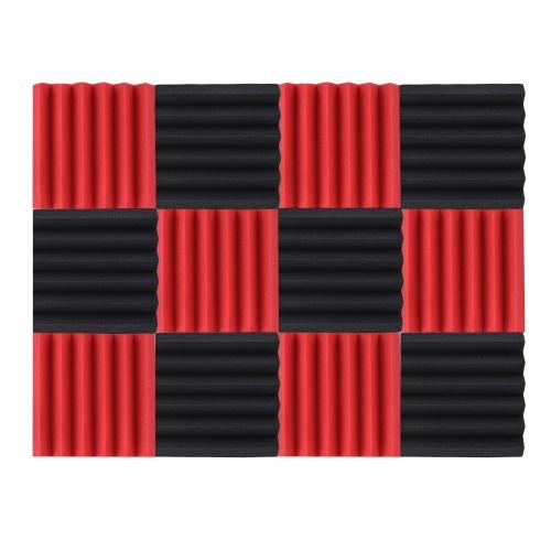 12パックスタジオアコースティックフォームスポンジパネルタイル吸音防音フォーム