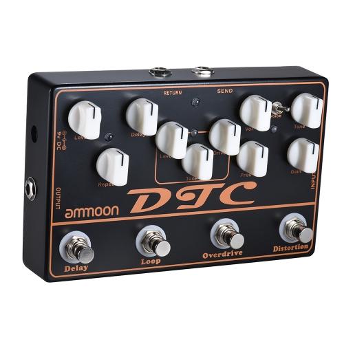 Ammoon DTC 4-in-1 Pedale effetti per chitarra elettrica