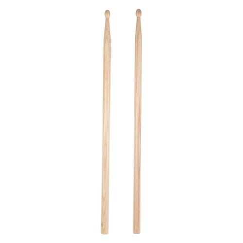 5Bのドラムスティックのペアウェーブの形の木の先端のパーカッションドラムセットのアクセサリーブラックウォールナットウッド