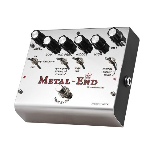 BIYANG METAL-END König High Gain Distortion Effektpedal Eingebauter Verstärker Simulator EQ Mit True Bypass Full Metal Shell