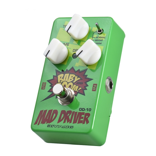 BIYANG OD-10 BABY BOOM Series 3 Modes Overdrive Guitar Effect Pedal True Bypass Full Metal Shell