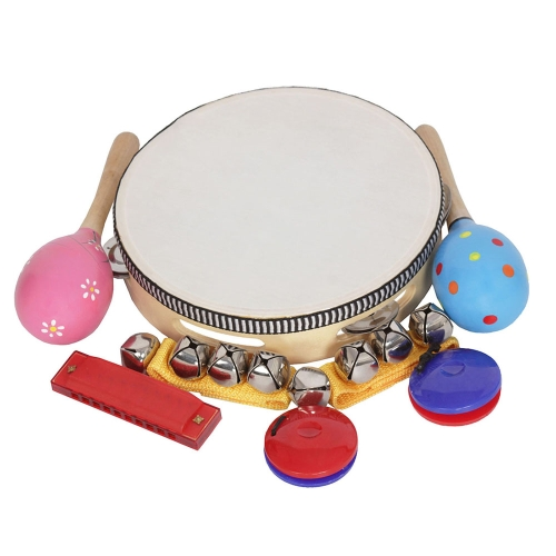 8pcs / set Musical Toys Strumenti a percussione Band Rhythm Kit per bambini Bambini Toddlers