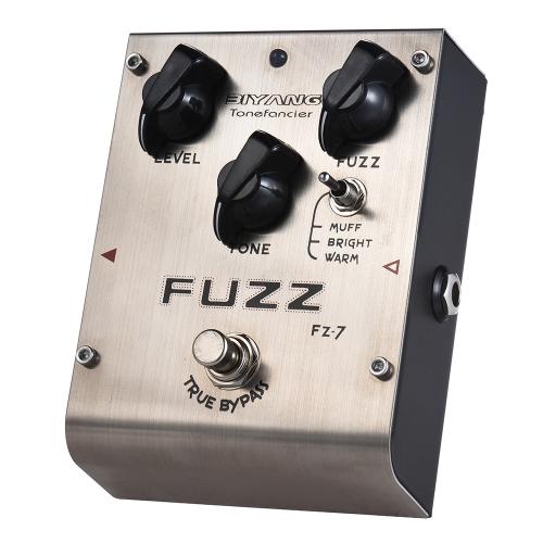 BIYANG FZ-7 Tonefacier Seria 3 Tryby Fuzz Pedał efektów True Bypass Full Metal Shell