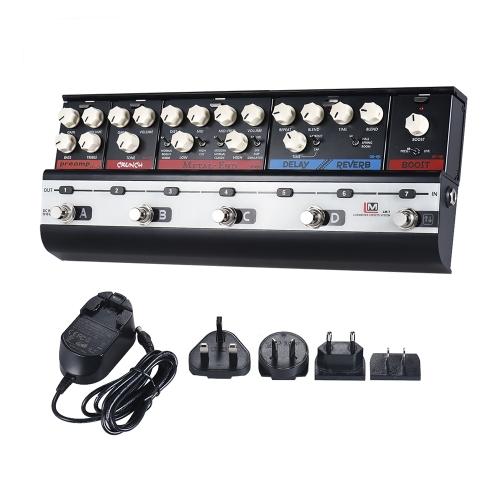 BIYANG LiveMasterシリーズLM-7メインフレームユニットファッショナブルスタイルセット、6つのギターエフェクトペダル