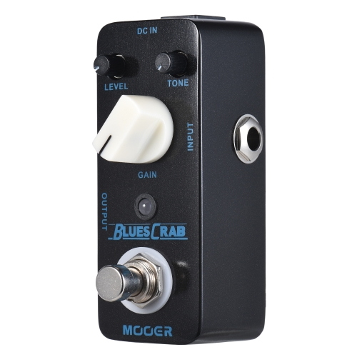 MOOER BLUES CRAB Blues Overdrive Guitar Effect Pedal True Bypass Full Metal Shell