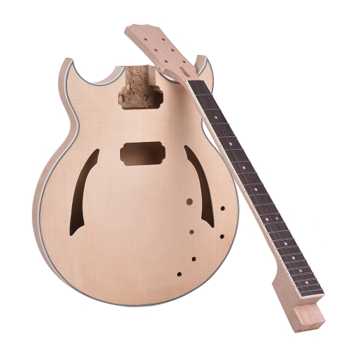 Ammoon Unfinished DIY E-Gitarre Kit