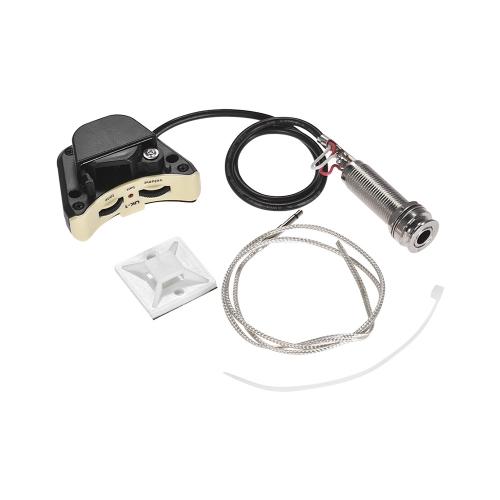 Ukulele Ukelele Uke Piezo Pickup Preamp Pick-up System Endpin Jack Style z regulacją głośności i tonów