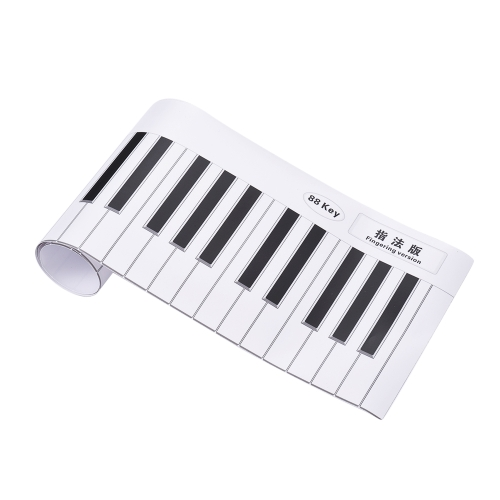 Fingering Version 88 Keys Piano Keyboard Fingering Practice Chart Sheet with Notes & Stave Reference Piano Teaching Guide Assistive Tool for Bebinners Students Kids