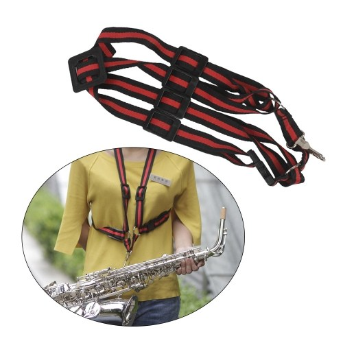 Adjustable Saxophone Sax Shoulder Strap Cross Body Style for Saxophone Players