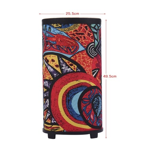 10 Inch Floor Drum Conga Konga Drum Hand Drum 3-feet Design with Attractive Fabric Art Surface Percussion Instrument for Gathering Rhythm Practice