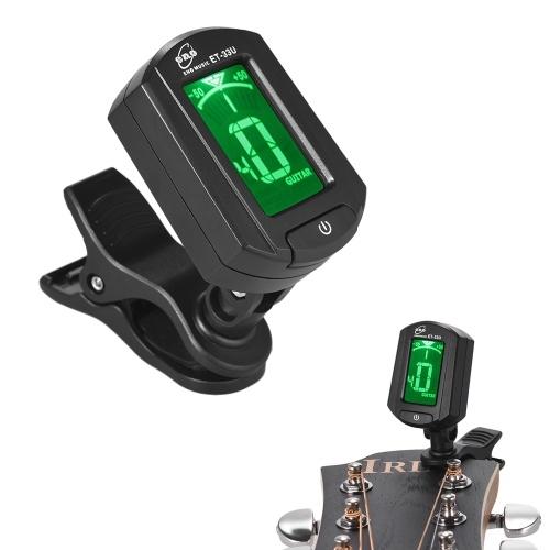 eno ET-33U Tragbare Clip-On-Tuner LCD Display für Gitarre Chromatische Ukulele