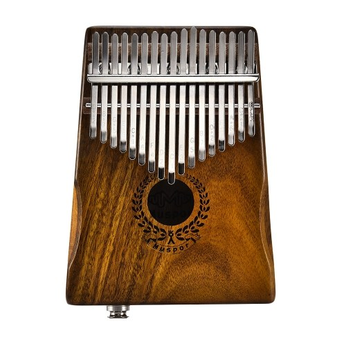 Muspor 17 Keys EQ Kalimba Solid Acacia Thumb Piano Link Speaker Электрический пикап с сумкой для кабеля Calimba Mbira Keyboard Instrument