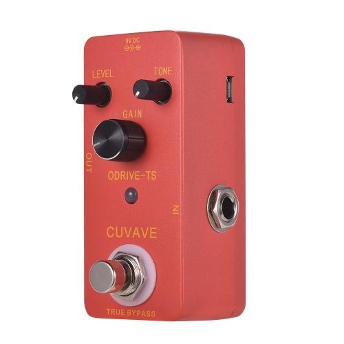 CUVAVE ODRIVE-TS Pédale d'effet guitare Overdrive analogique Shell en alliage de zinc True Bypass