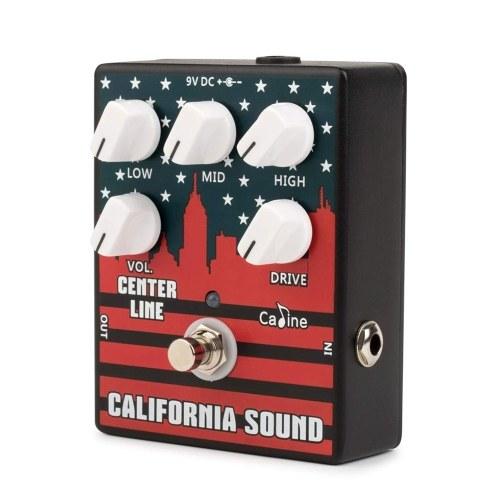 Caline CP-57 Pédale d'effet de distorsion de guitare électrique à gain élevé et égalisation à 3 bandes, boîtier en alliage d'aluminium
