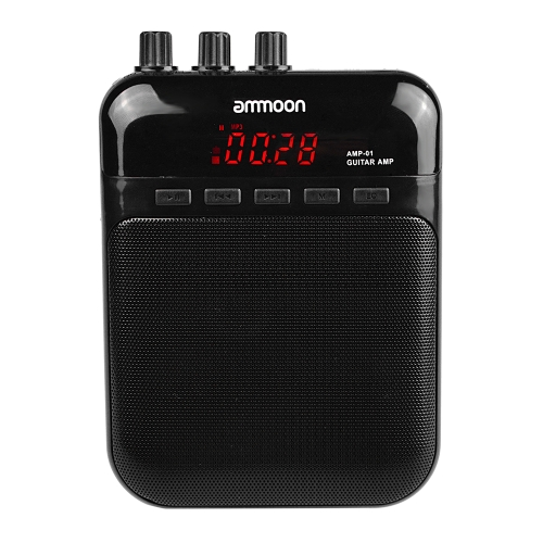 ammoon AMP -01 5W Guitar Amp Recorder Speaker TF Card Slot Compact Portable Multifunction
