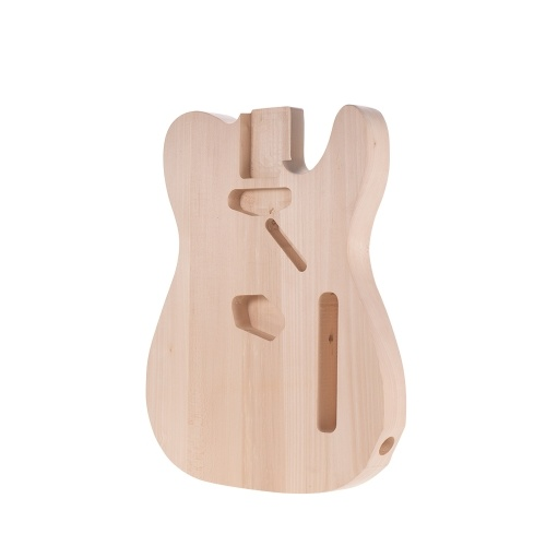 Muslady TL-01T DIY Elektrische Gitarre Körper Linde Material Unfinished Guitar Bodies Benutzerdefinierte Gitarre Barrel
