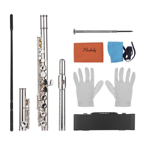 Muslady Woodwind Instrument 16 Holes Closed Hole Flute