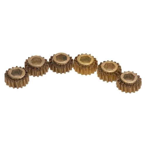 6pcs Accordeurs à cordes de guitare Tuning Pegs Keys Machine Heads Mount Hex Hole Gear