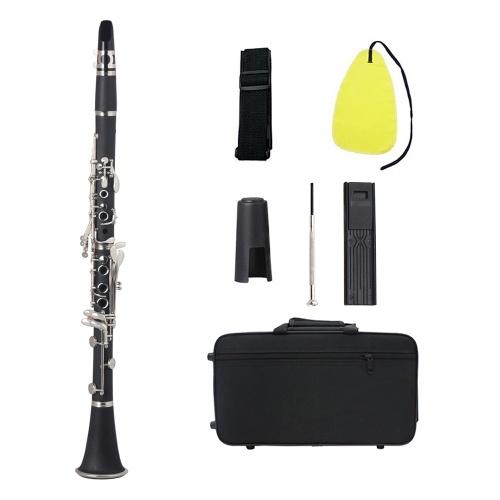 Bbフラットクラリネットブラックベークライトシルバーキー木管楽器