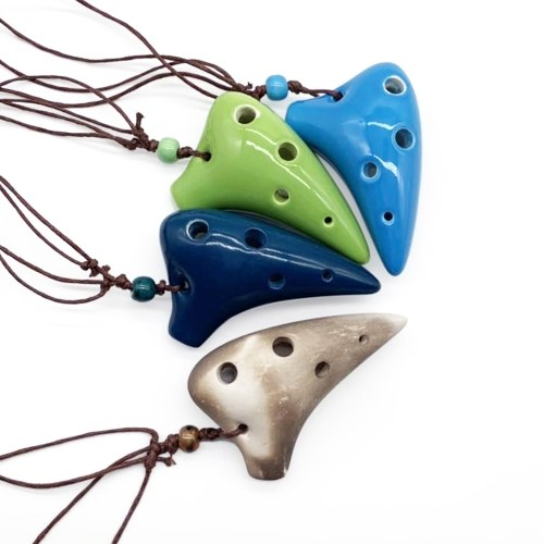 6 Holes Ceramic Ocarina Alto C Submarine Style Musical Instrument with Lanyard Music Score For Music Lover and Beginner фото