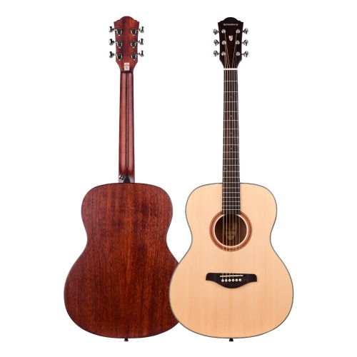 40inch OM Acoustic Guitar Spruce Wood Top Panel Mahogany Wood Backside Panel