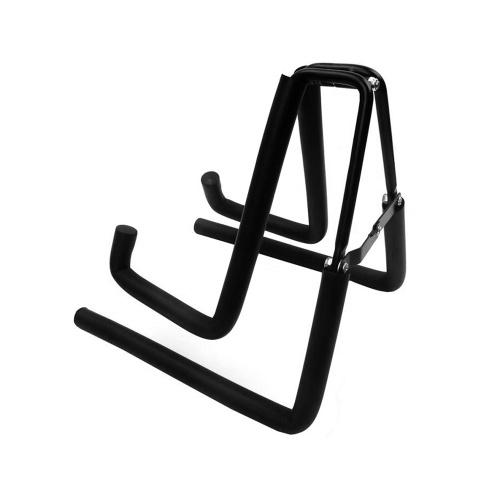 Universal A-Frame Ukuleles Floor Stand Portable Foldable Design Metal Musical Instrument Holder Display Stand for Ukulele Violin Mandolin Guitar