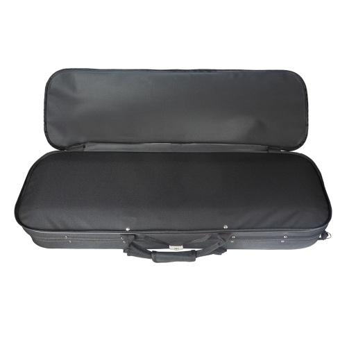 3/4 Size Acoustic Violin Oblong Case Portable Violin Bag Lightweight