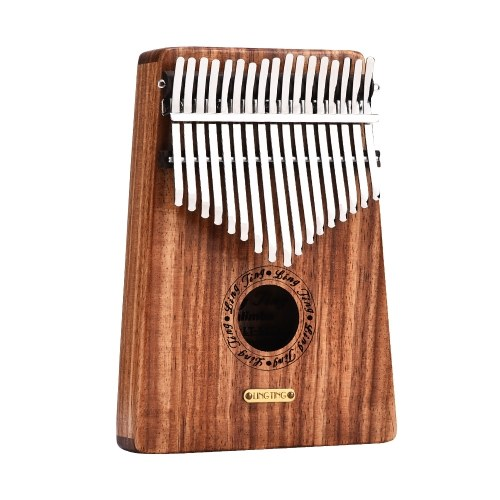 LINGTING K17Y 17-key Portable Thumb Piano Kalimba Mbira Sandalwood Solid Wood