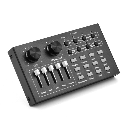 Multifunctional Live Streaming Sound Card USB Audio Interface Mixer