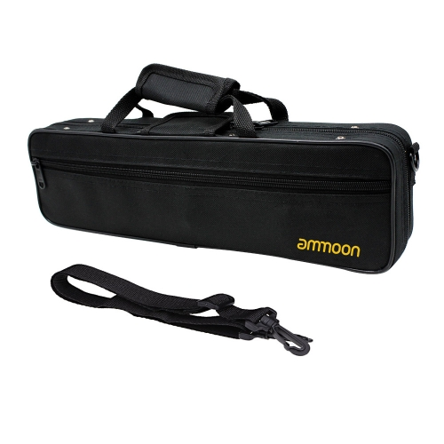 ammoon Flute Case Gig Bag Backpack Box Water-resistant  600D Foam Cotton Padding with Adjustable Single Shoulder Strap
