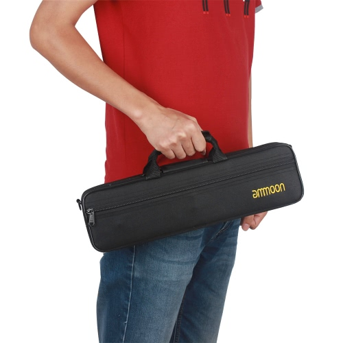 Flute Case Gig Bag Backpack Box Water-resistant  600D Foam Cotton Padding with Adjustable Single Shoulder Strap