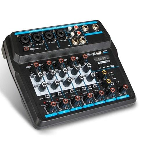 Kompakter 6-Kanal-USB-Mischpult Digital Audio Mixer