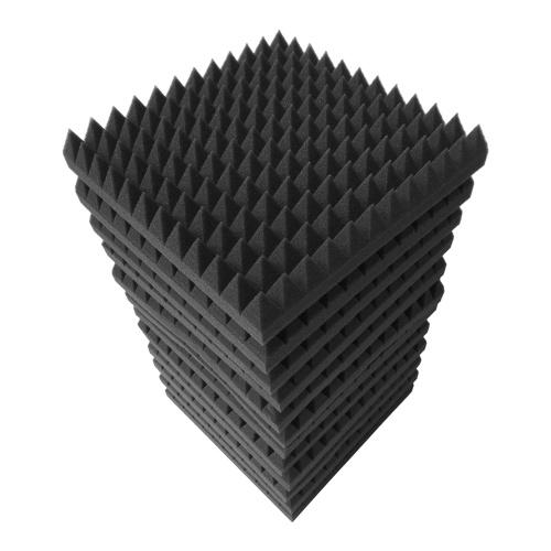 12 pièces 12 * 12 * 2 pouces panneaux de mousse acoustique de Studio haute densité isolation phonique mousse ignifuge