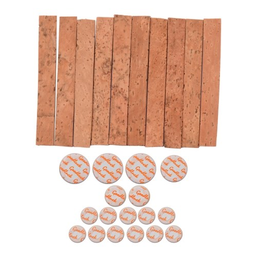 Clarinet Neck Joint Cork and Pad Set 10 Piece of Clarinet Neck Joint Cork 17 Piece Clarinet Pads for Bb Clarinet