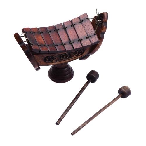 8 notas Xilófono Madera de teca Instrumento musical de percusión tradicional tailandés