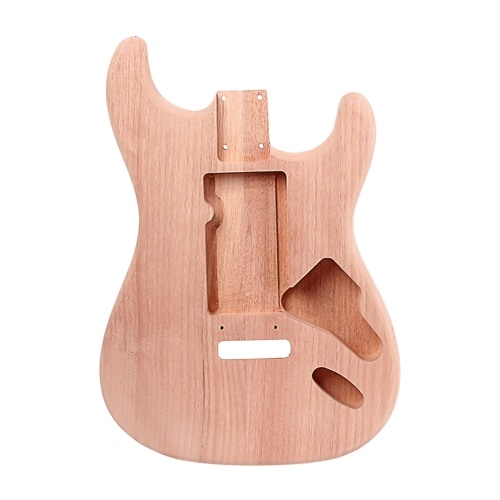 ST Electric Guitar Body Red Walnut Guitar DIY Accessory Natural Wood Color